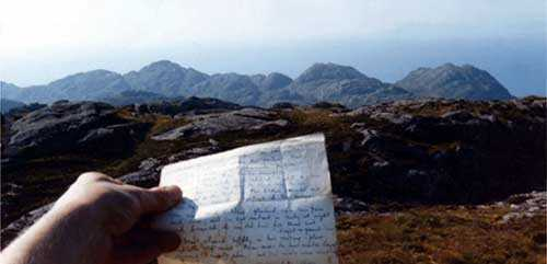 Michael's poem, returned to the heights of Eilean Shona